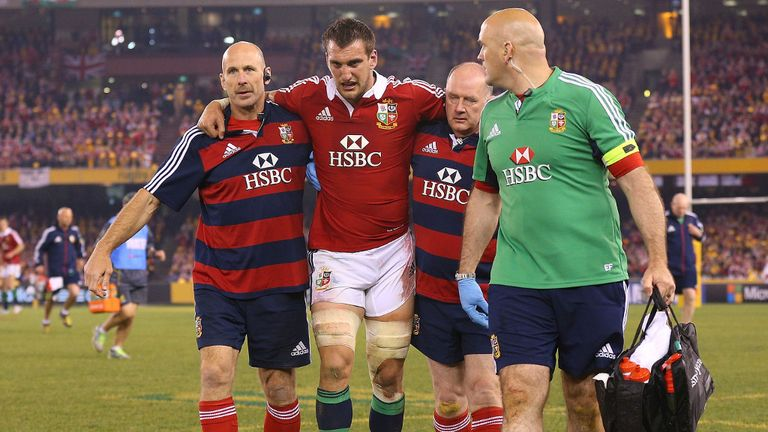 Sam Warburton: Had to be carried off injured towards the end of the second half in Melbourne