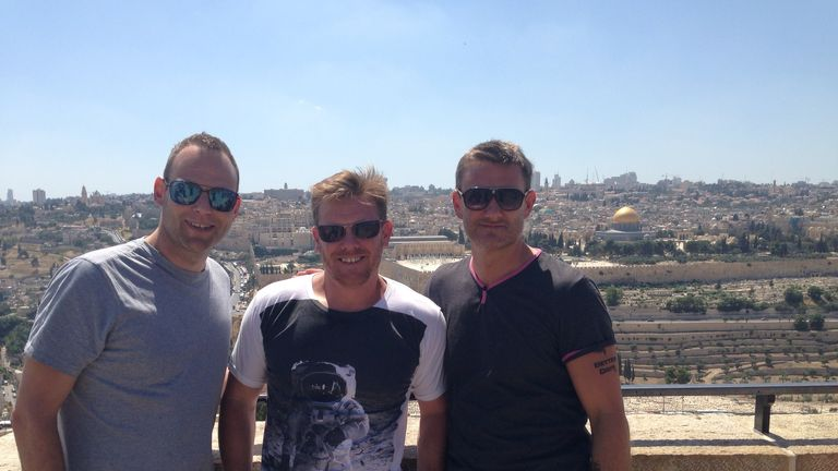 The Sky Sports team in Israel take in the spectacular sights on a rare morning off