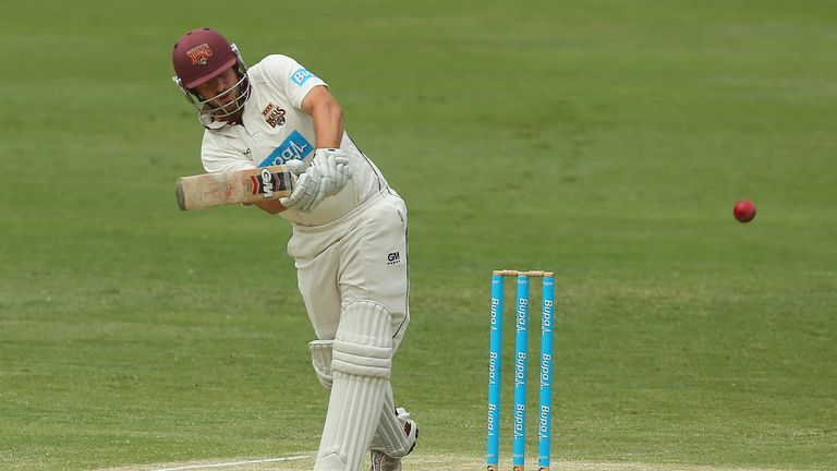Joe Burns: Leicestershire batsman led the way with unbeaten half-century