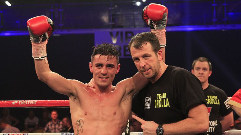 Pointing to glory: trainer Joe Gallagher was behind a big win for Anthony Crolla (by Lawrence Lustig)