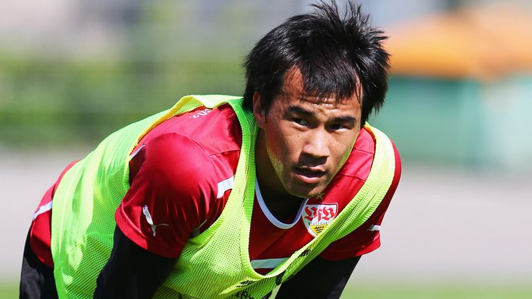 Shinji Okazaki: The Japan international has struggled for goals in Germany
