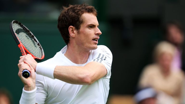 Andy Murray: Remains on course at SW19