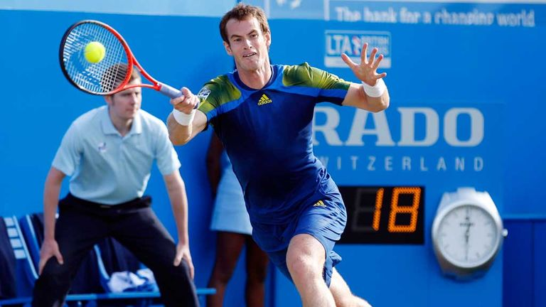 Andy Murray: Scot enjoying his return to action at Queen's Club