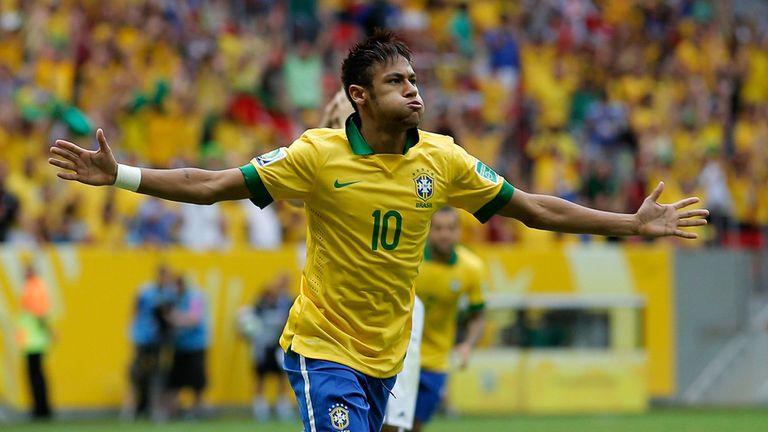 Neymar: Celebrates his stunning opener