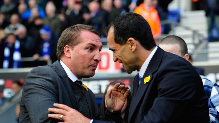 Brendan Rodgers & Roberto Martinez: Will lock horns on derby day