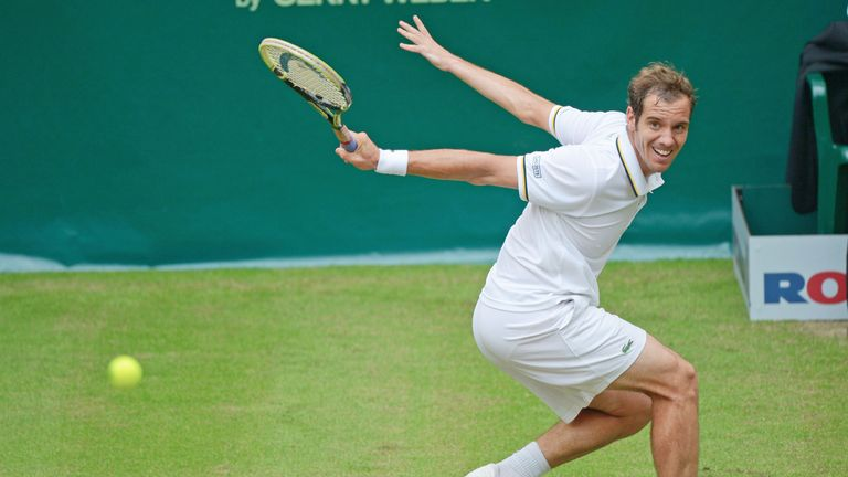 Richard Gasquet: Frenchman was dominant on serve during win over Jurgen Melzer