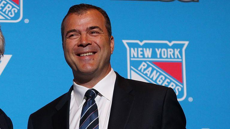 Alain Vigneault at his presentation as New York Rangers coach