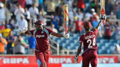 Tino Best and Kemar Roach: Steered the West Indies to victory