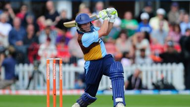 Wes Durston: Derbyshire opener belted five fours and three sixes