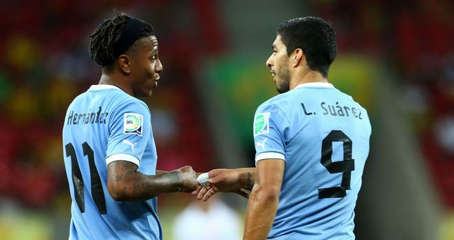 Abel Hernandez: Netted four times, while Luis Suarez became Uruguay's all-time leading goalscorer