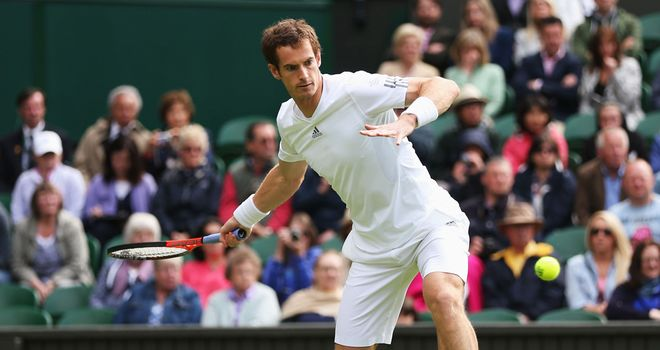Andy Murray: Eased past Benjamin Becker on opening day of Wimbledon