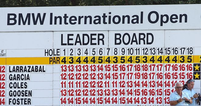 How the final leaderboard looked when Golfclub Munchen Eichenried last staged the event in 2011