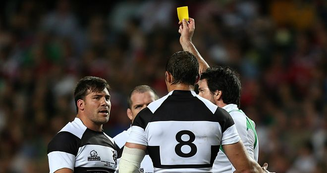 Schalk Brits: Shown yellow for punching Owen Farrell