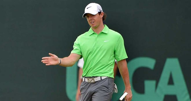 Rory McIlroy: Dropped four shots and ruined an iron at the 11th