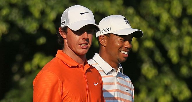 Rory McIlroy and Tiger Woods will spend the first two rounds together