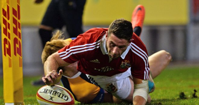 Alex Cuthbert: Scored the Lions' first try against the Combined Country XV