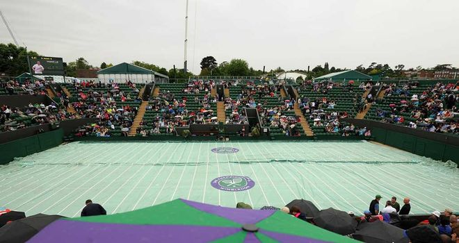 The covers did not come off on on Court Two at Wimbledon