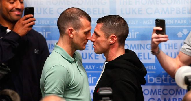 Derry Mathews and Tommy Coyle face off at a lively press conference in Hull