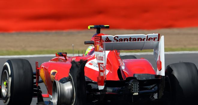 Felipe Massa was one of four drivers to suffer a tyre failure during Sunday's race