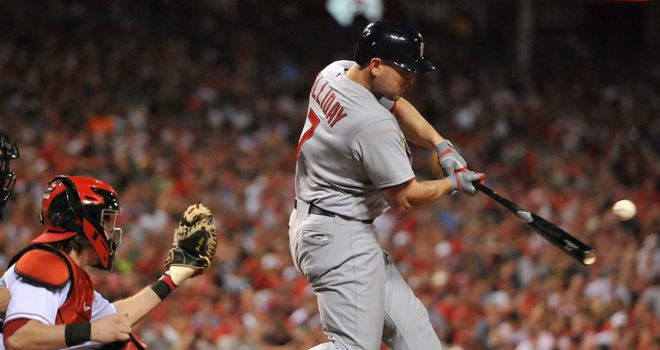 Matt Holliday: Smashed a grand slam as Cardinals overcame Reds