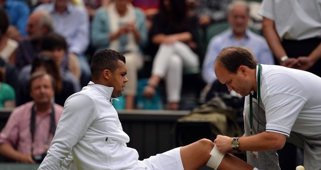 Jo-Wilfried Tsonga: Has not recovered from the knee injury he suffered at Wimbledon