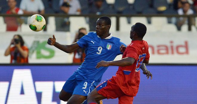 Mario Balotelli in action for Italy