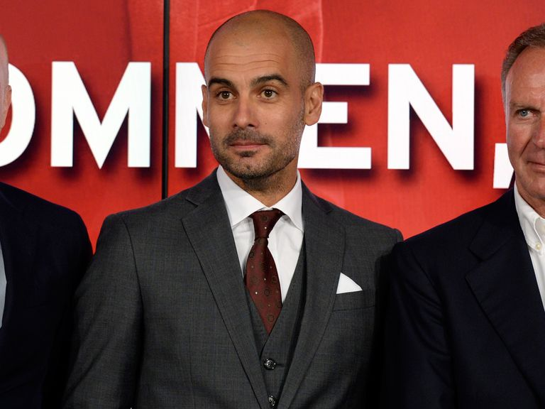 Guardiola: Spoke in German at first Bayern presser