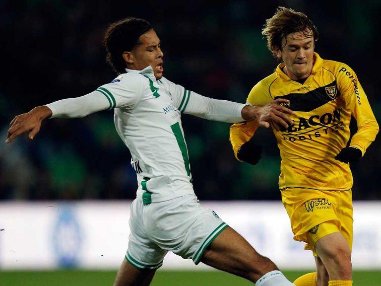 Virgil van Dijk in action for FC Groningen