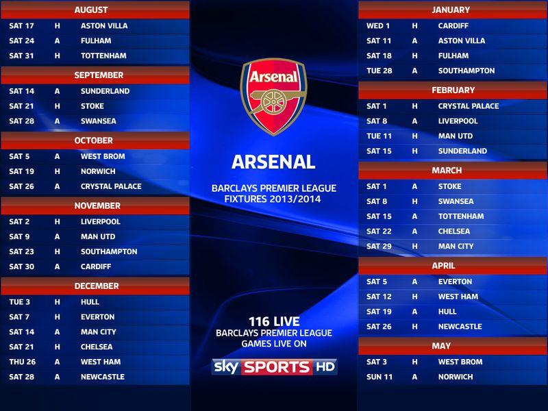 arsenal fixtures - photo #13