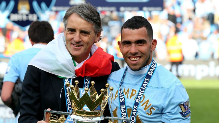 Roberto Mancini: Clashed with Carlos Tevez but enjoyed working with the striker