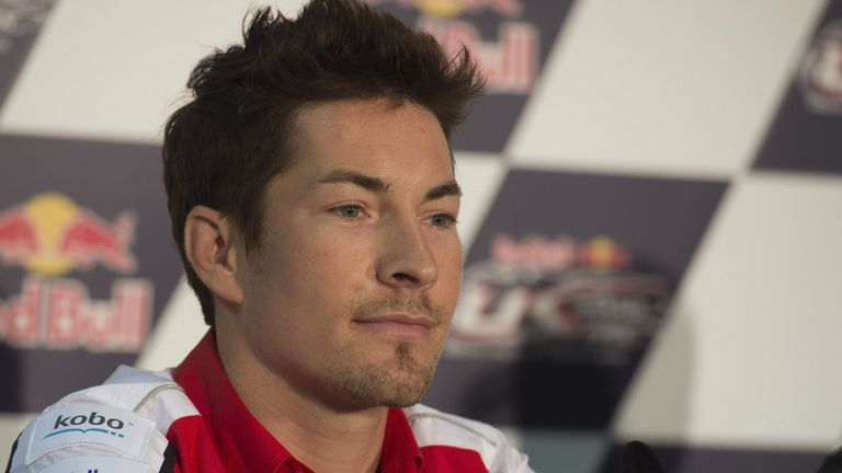 Nicky Hayden rides for the Red Bull Honda team