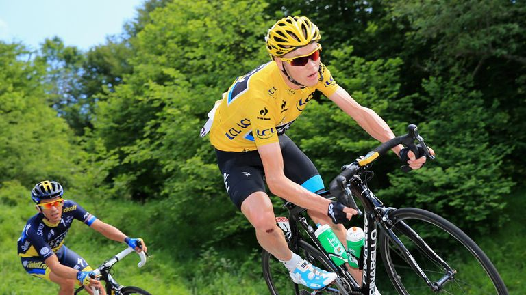 Chris Froome survived a testing day