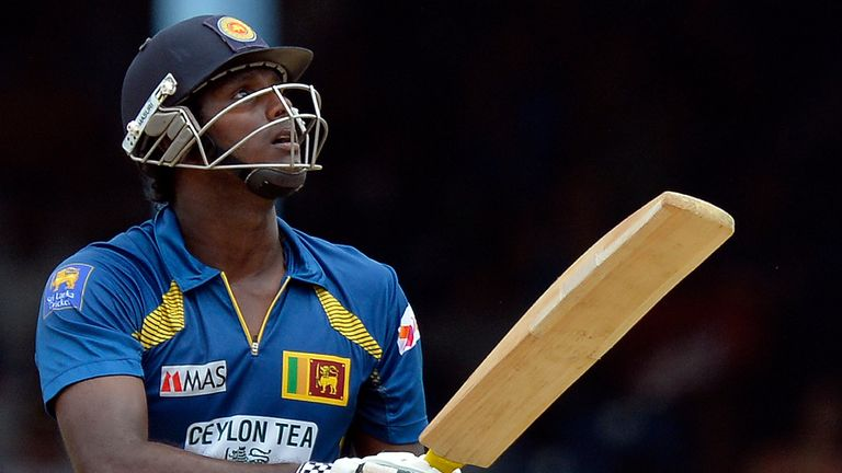 Angelo Mathews: Two-match ban for Sri Lanka captain