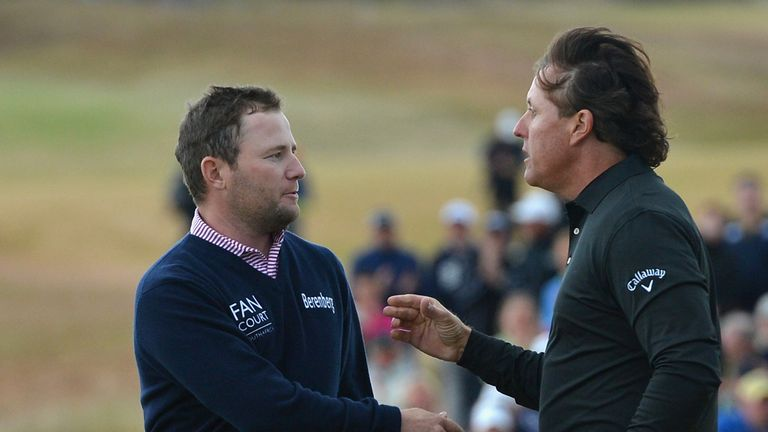 Phil Mickelson beat Branden Grace in a play-off to win the Scottish Open
