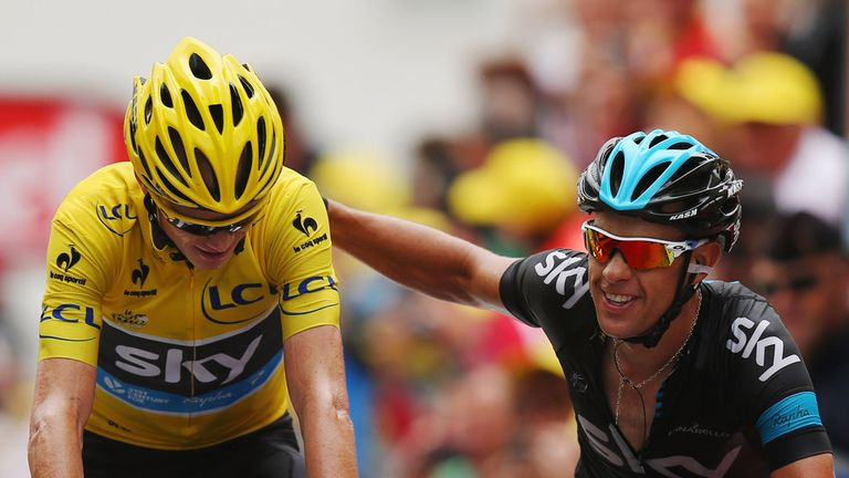 Chris Froome was nursed through the final 5km by Richie Porte