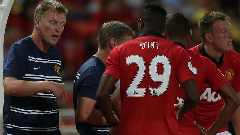 Wilfried Zaha: Listens on as David Moyes gets his point across in Bangkok