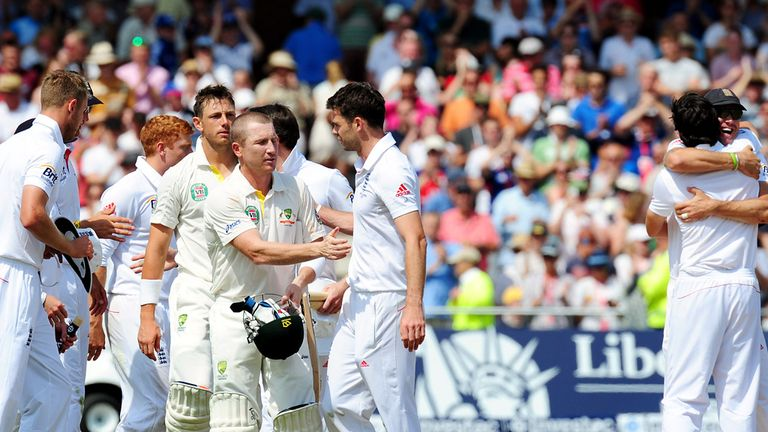 Brad Haddin and James Anderson: The two men who provided much of the drama on day five