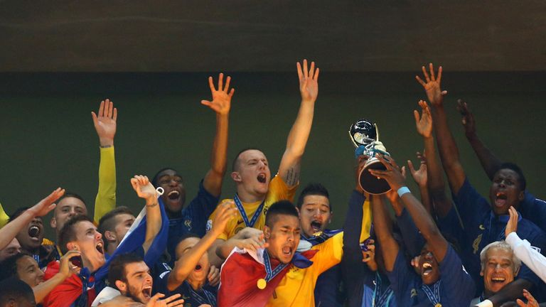 France Under-20s: Lifting the U20 World Cup trophy in Istanbul