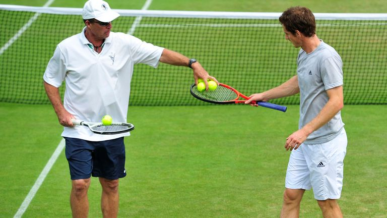 Ivan Lendl and Andy Murray: At work during the Wimbledon fortnight