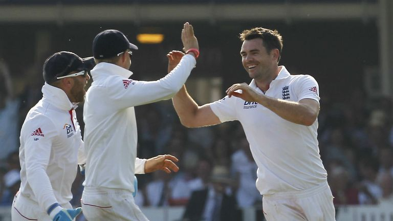 James Anderson: Will be on home turf at Old Trafford