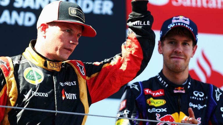 Raikkonen & Vettel: On the podium in Germany