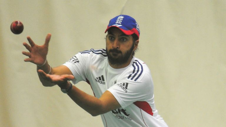 Monty Panesar: In action during an England nets session ahead of the third Ashes Test