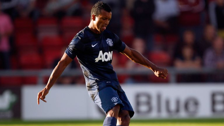 Nani: Scored twice on his return to action for Manchester United