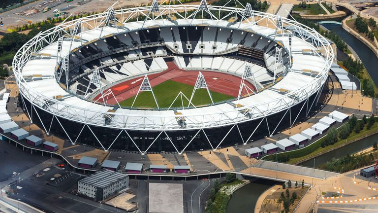 Olympic Stadium: Work has begun on converting the venue