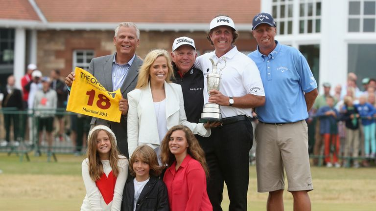 Team Mickelson celebrate at Muirfield