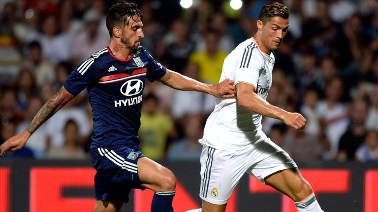Action from Wednesday's friendly between Real Madrid and Lyon
