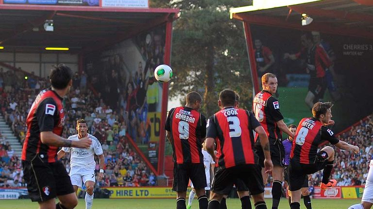 Cristiano Ronaldo: Scores with a trademark free-kick against Bournemouth