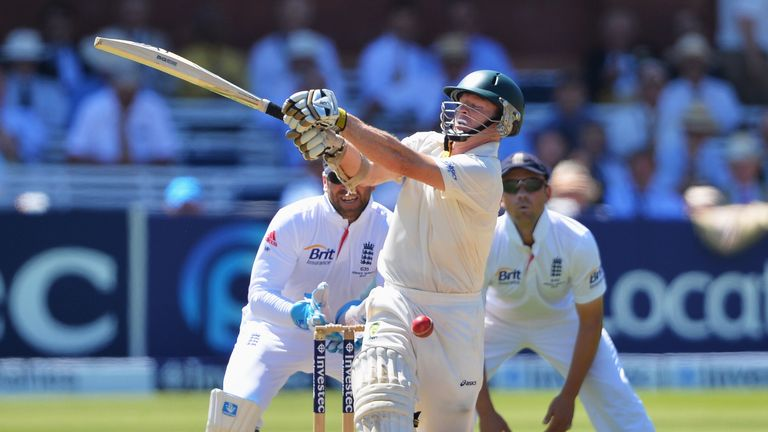 Chris Rogers: Australia opener Chris Rogers was lbw to a Graeme Swann full toss during his side's batting collapse on day two