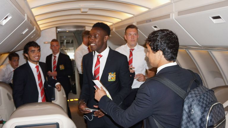 Manchester United: Flew out for pre-season tour without skipper Vidic