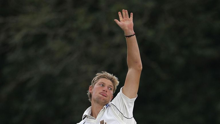 Ollie Rayner: Took career-best figures of 8-46 to put Middlesex in command against Surrey at stumps on day two